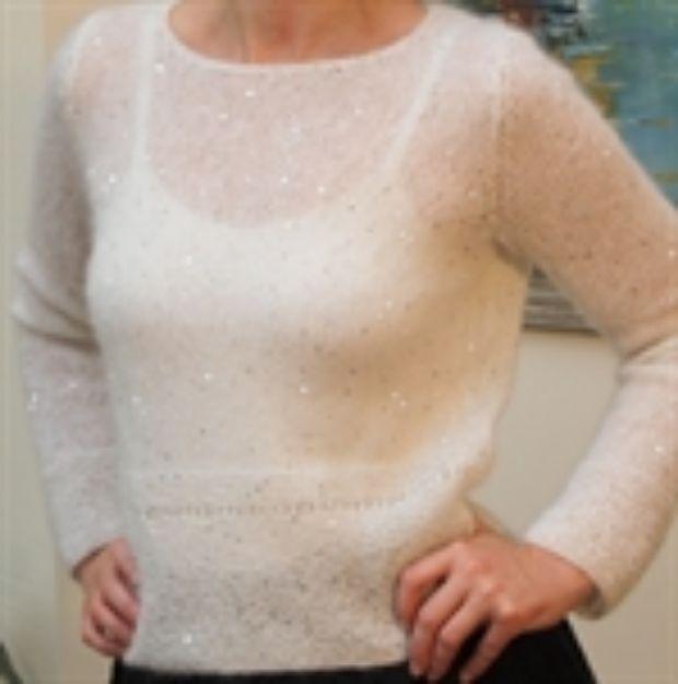 Bild von Pullover glatt rechts mit kraus rechts Rippenbündchen