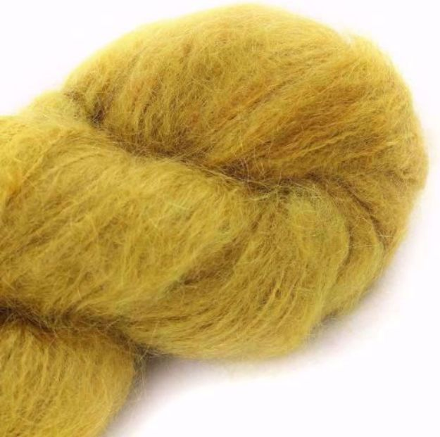 COWGIRLBLUES FLUFFY MOHAIR SOLIDS mustard