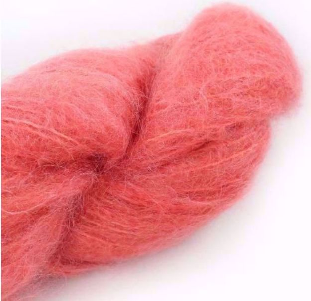 COWGIRLBLUES FLUFFY MOHAIR SOLIDS ruby grapefruit