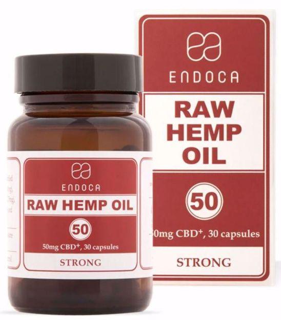 Bild von ENDOCA Bio-CBD+ Hanföl 50mg 30 Kapseln (Raw Hemp Oil Strong)
