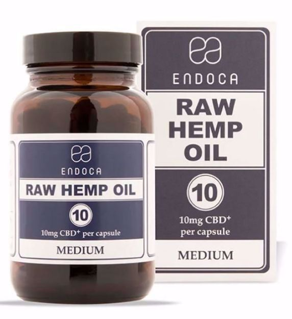Bild von ENDOCA Bio-CBD+ Hanföl 10mg 30 Kapseln (Raw Hemp Oil Medium)